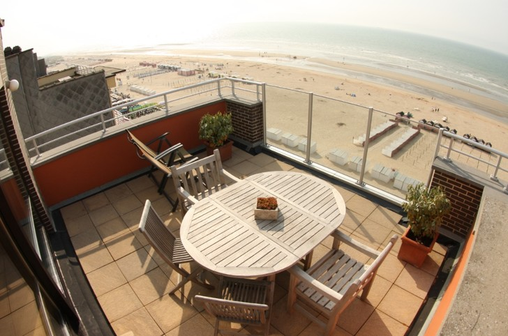 Location La Panne Penthouse Digue Terrasses Luxueux