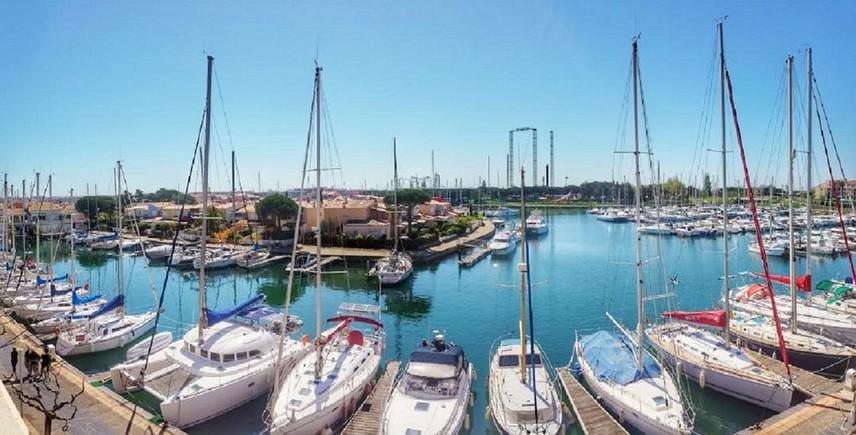 Studio verhuur 2-4 personen allemaal uitgerust met uitzicht op de haven 34 m2 - Agde