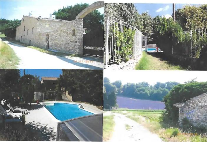 Gite in Mas in Provençaalse stenen met zwembad - Saint-Marcel-lès-Sauzet