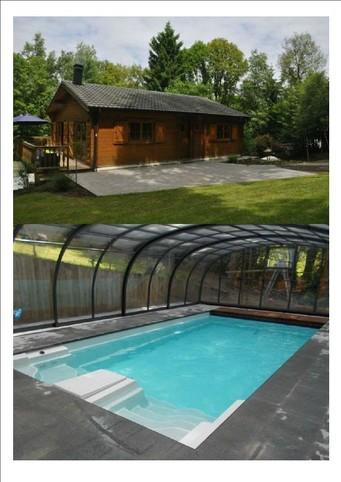 Uitzonderlijk chalet in het hart van het bos met verwarmd privézwembad