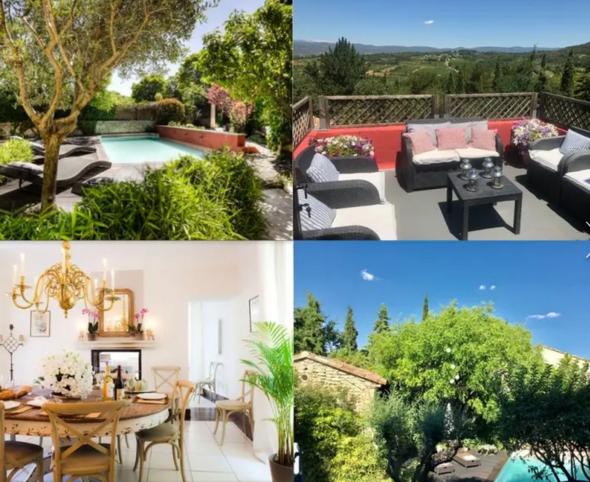 Charmante  maison de village Jardin Piscine et terrasse panoramique vue imprenable - Goult