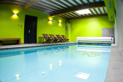 House with swimming pool, jacuzzi, sauna Rochesson