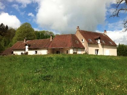 Weids rustige huis Morvan particuliere vijver