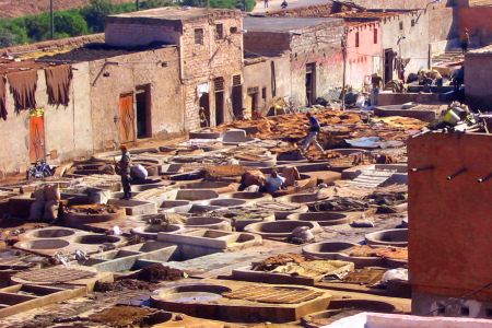 Tanneries à Marrakech
